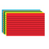 Border Index Cards, 3 x 5 Lined, Primary Colors