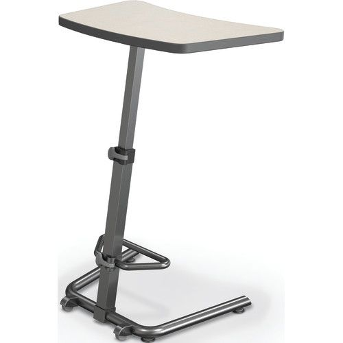 Up Rite Student Height Adjustable Sit/Stand Desk, Gray Mesh Laminate, Black  Edge Band