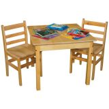 Solid Birch Hardwood Table, 30 Square with 24 legs