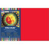 Tru-Ray® Fade-Resistant Construction Paper, 12 x 18, Festive Red