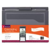 Smead® Cascading Wall Organizer, Gray with Neutral Pockets