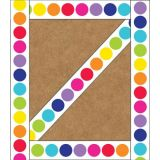 Schoolgirl Style™ Twinkle Twinkle You're a Star! Rainbow Big Dots Straight Border