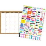 Clingy Thingies® Calendar Set, Burlap