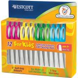 Westcott® Soft Handle 5 Kids Scissors Classpack, Blunt
